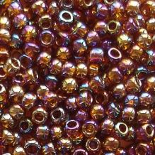 Toho 8/0 Seed Beads Transparent Rainbow Smoky Topaz 177 - 10 grams